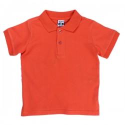 Polo niño básico naranja