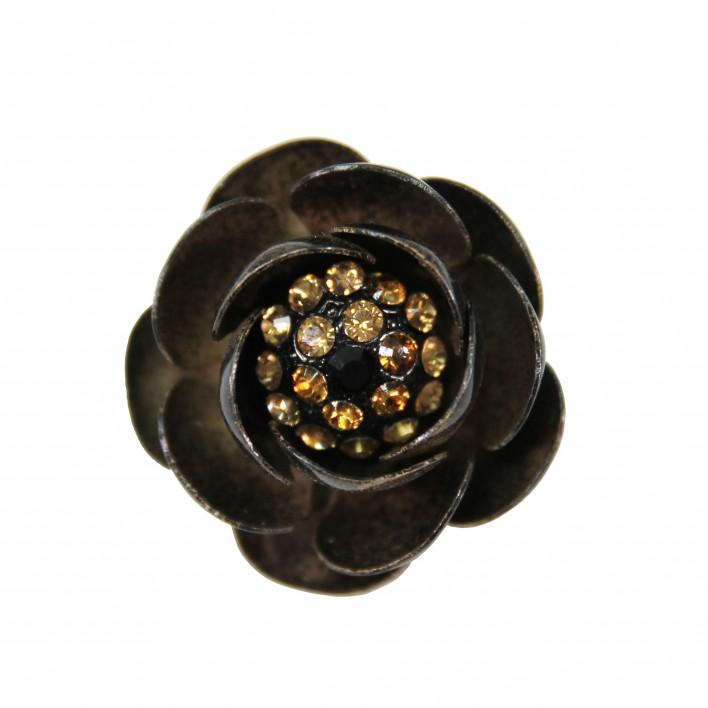 Broche flor bronce BLUMARINE