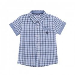 Camisa niño cuadros azules