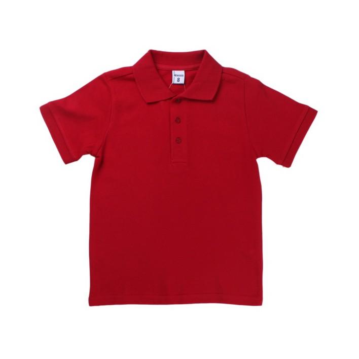 Polo algodón niño rojo