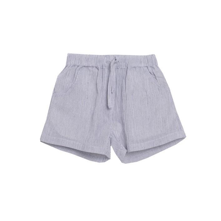 Short niña rayas finas grises