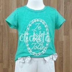 """Camiseta turquesa """"Je suis…"""""""