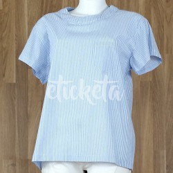 Camisa rayas lazada trasera azul claro