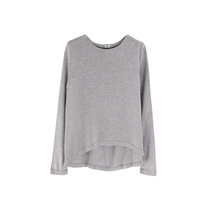 Camiseta lisa gris algodón