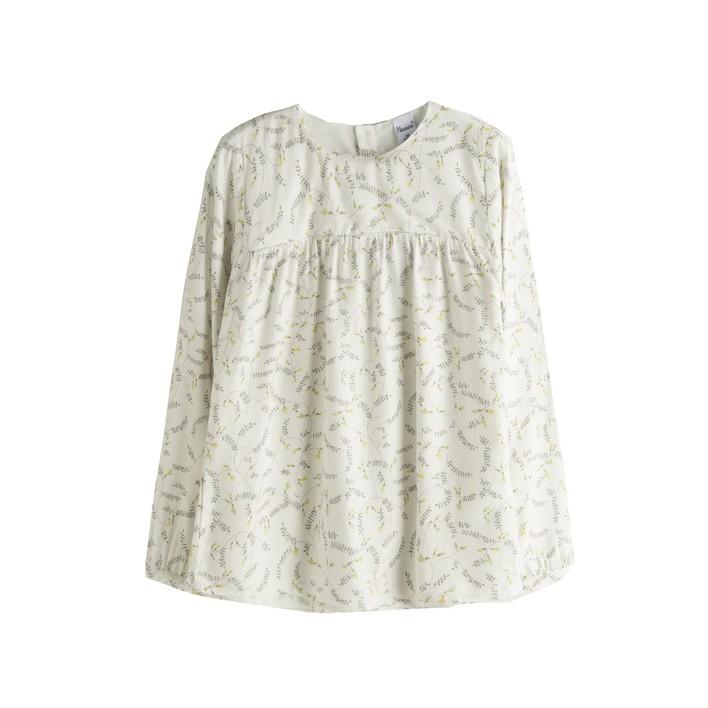 Blusa con estampado de enredadera crudo