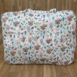 Bolsa grande blanco flores