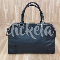 Bolso de mano tipo maletín negro