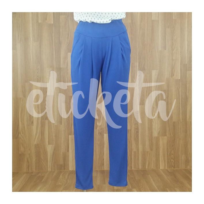 Pantalón sarga azulón MADE IN ITALY