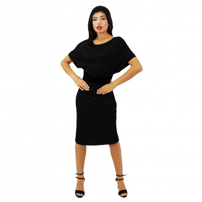 Vestido manga corta negro GUCCI