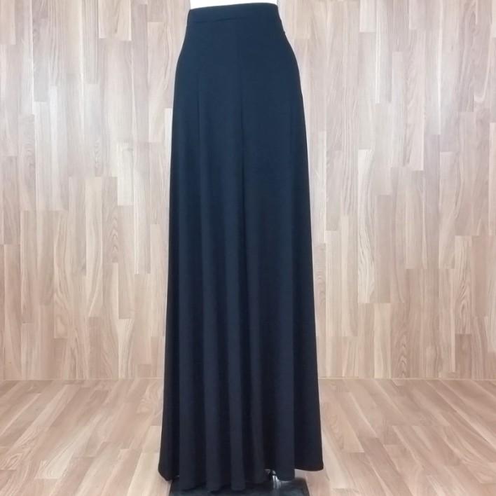 Falda larga punto liso negro