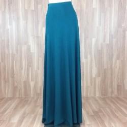 Falda larga punto liso verde