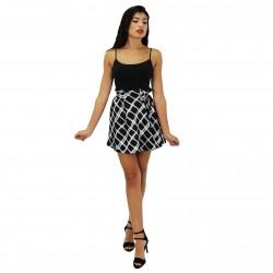 Falda mini estampado cuadros KENZO