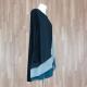 Vestido/blusón combinado lateral negro verde topo