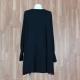 Vestido/blusón combinado lateral negro topo buganvilla