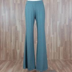 Pantalón ancho estampado espigas verde