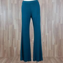 Pantalón ancho punto liso verde