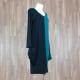 Vestido combinado verde negro