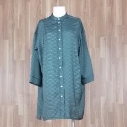 Vestido camisero estampado espigas verde