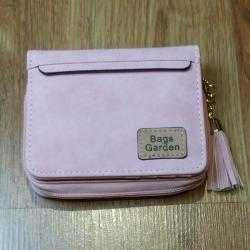 Monedero pequeño liso rosa