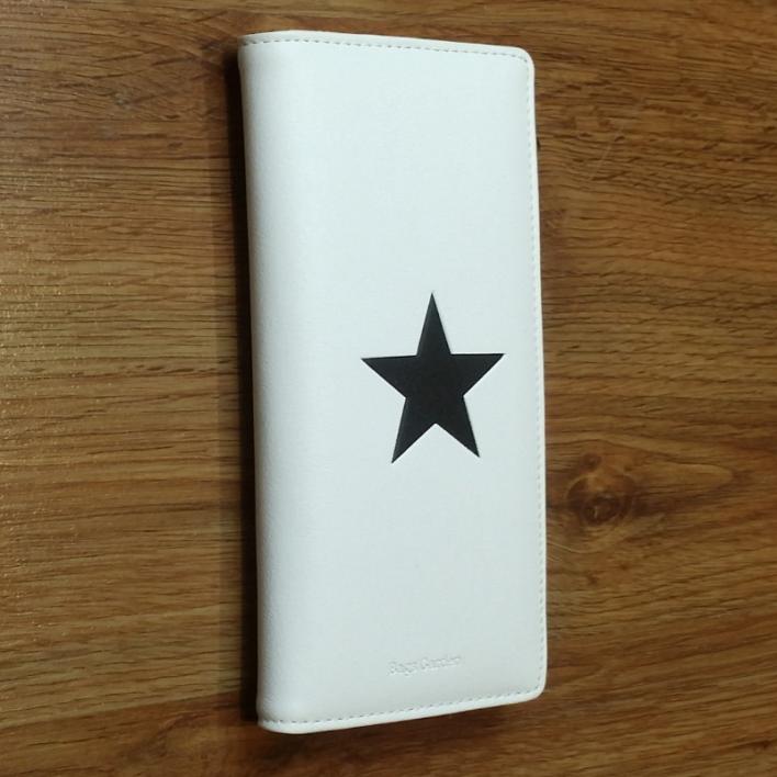 Monedero grande blanco estrella