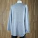 Jersey bajo redondo con bolsillos gris