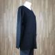 Jersey bajo recto con bolsillos negro