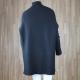 Jersey largo textura con cuello cisne NEGRO
