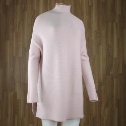 Jersey largo textura con cuello cisne ROSA