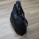 Bolso saco de mano con bandolera 100% piel negro