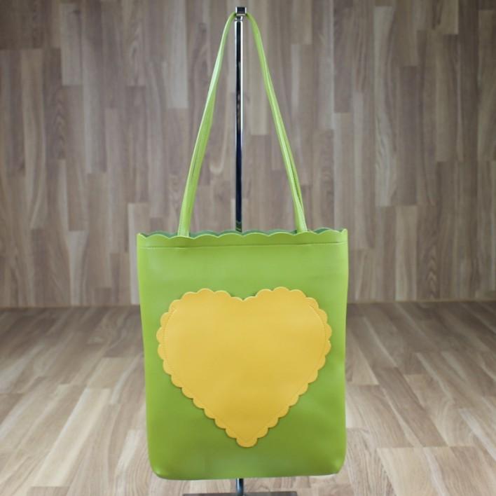 Bolso corazón verde