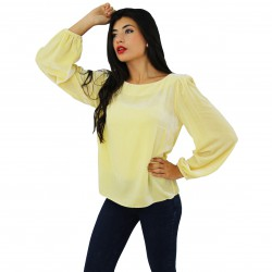 Top m/l terciopelo amarillo BLUMARINE