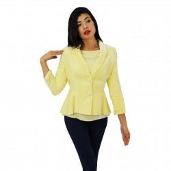 Blazer terciopelo amarillo BLUMARINE
