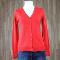 Cardigan básico rojo
