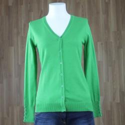 Cardigan básico verde