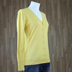 Cardigan básico amarillo