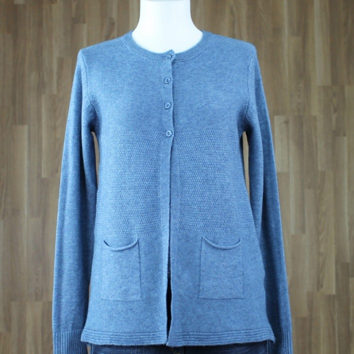 Cardigan relieve azul
