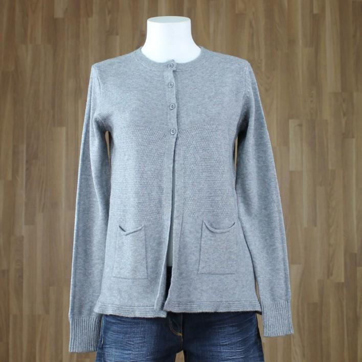 Cardigan relieve gris