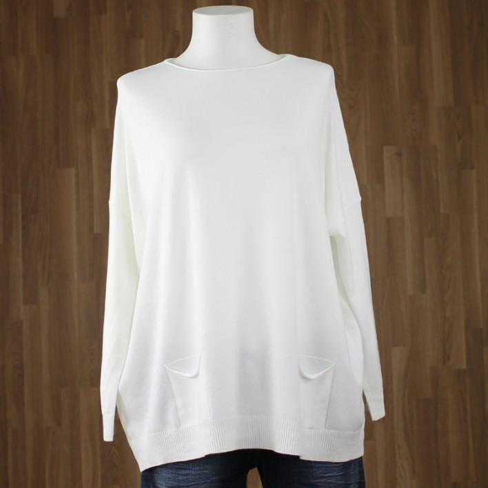 Jersey bolsillos blanco