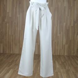 Pantalón paper bag beige