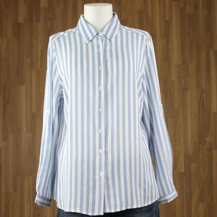 Blusa manga larga rayas azul