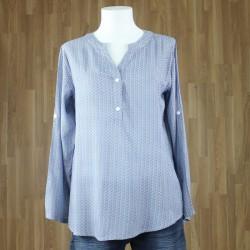 Blusa estampada tonos azules