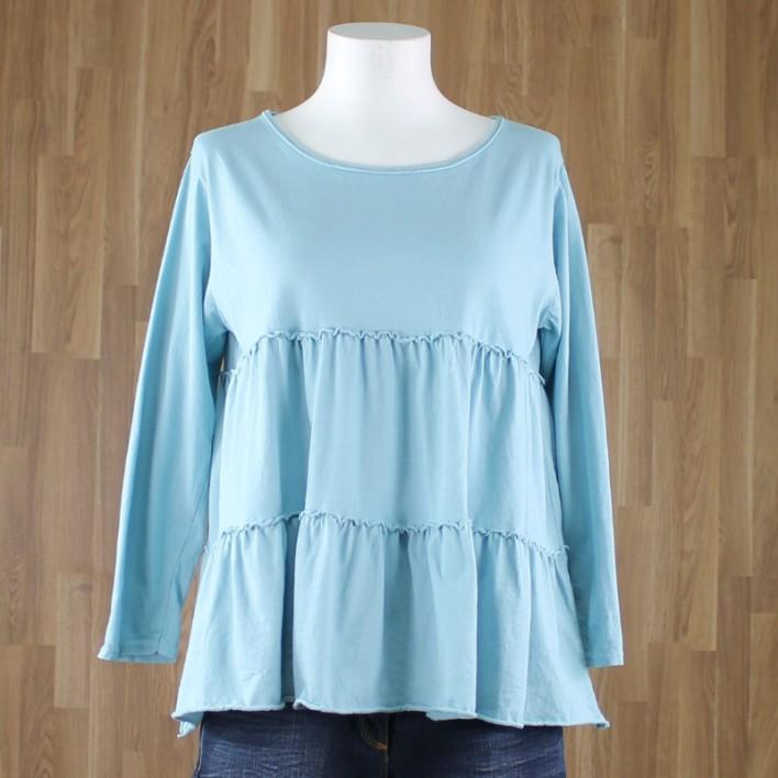 Camiseta volantes azul