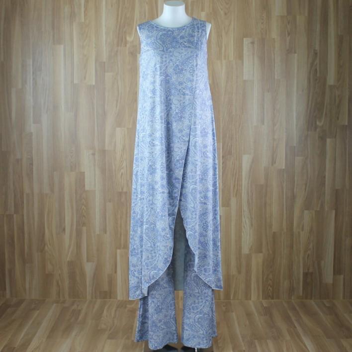 Top/vestido largo sin mangas estampado cornuscopia