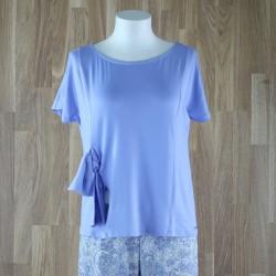 Camiseta manga corta y lazo lateral lavanda
