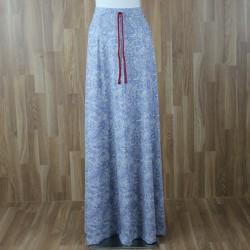Falda larga / vestido palabra de honor con estampado cornuscopia