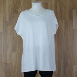 Camiseta manga corta oversize blanco