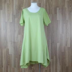 Vestido algodón manga corta verde pistacho